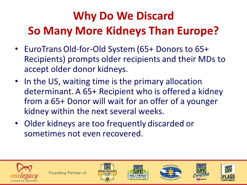 Why Do We Discard So Many More Kidneys Than Europe.