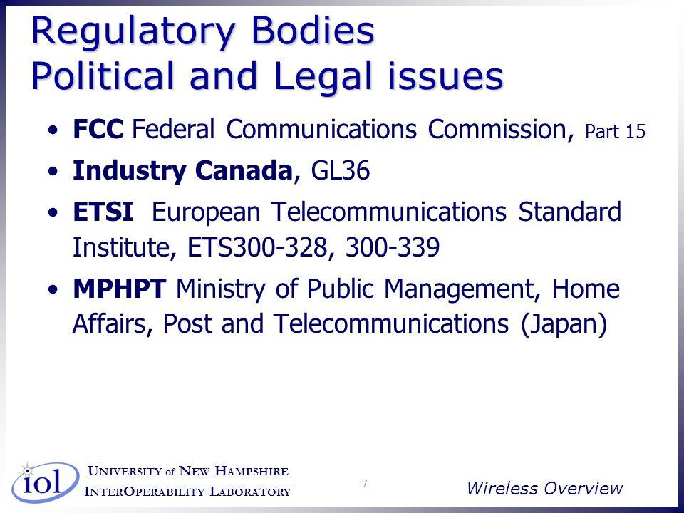 U NIVERSITY of N EW H AMPSHIRE I NTER O PERABILITY L ABORATORY Wireless Overview 18 Medium Variations Copyright 1996 IEEE Desk Doorway