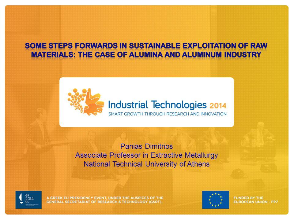 Panias Dimitrios Associate Professor in Extractive Metallurgy National Technical University of Athens