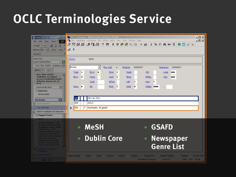 OCLC Online Computer Library Center Terminologies Service