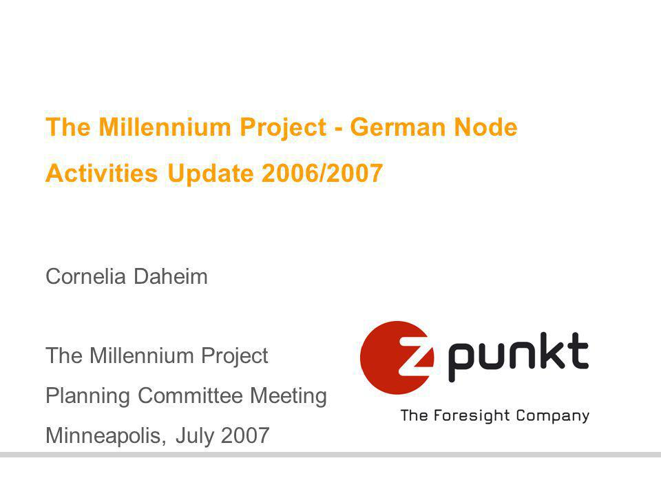 2 About the German Node Activities 2006/2007 Plans for the Next MP year Issues