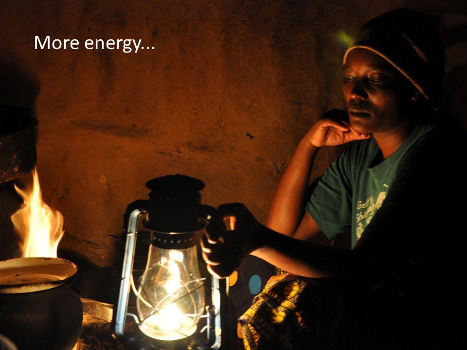 More energy...