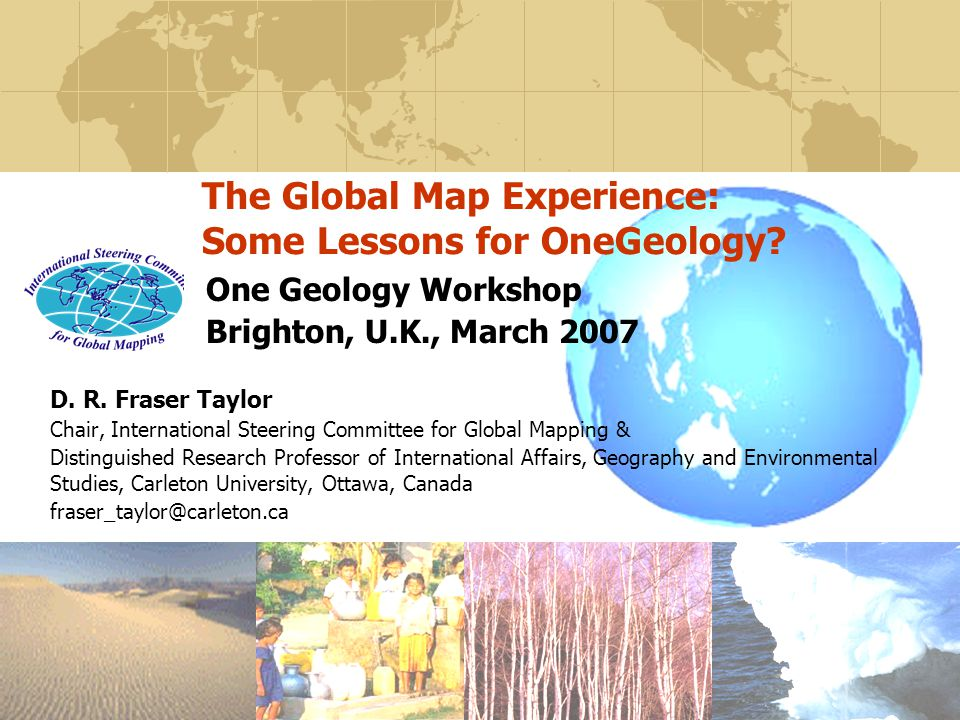 The Global Map Experience: Some Lessons for OneGeology.