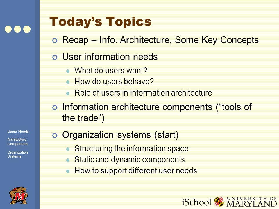 iSchool Todays Topics Recap – Info.