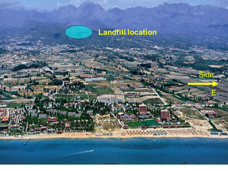 Landfill location Side E