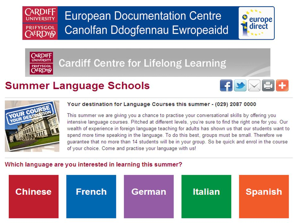 Details of 2010-11 language courses now available French, German, Italian, Portuguese and Spanish plus Croat, Greek, Polish, Russian and Turkish Jamie