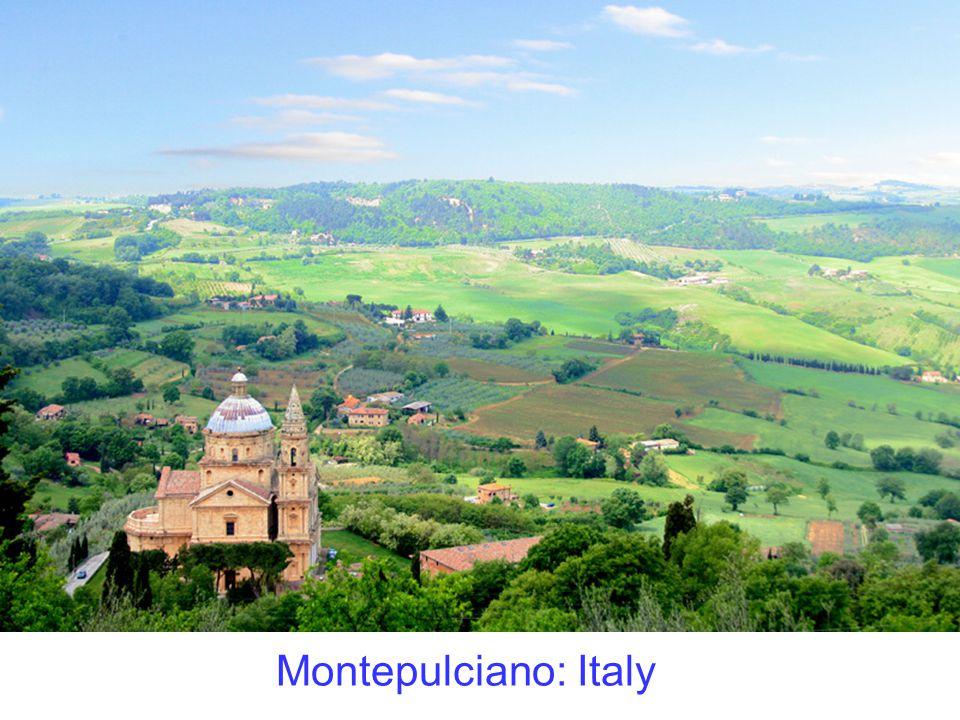 Montepulciano: Italy