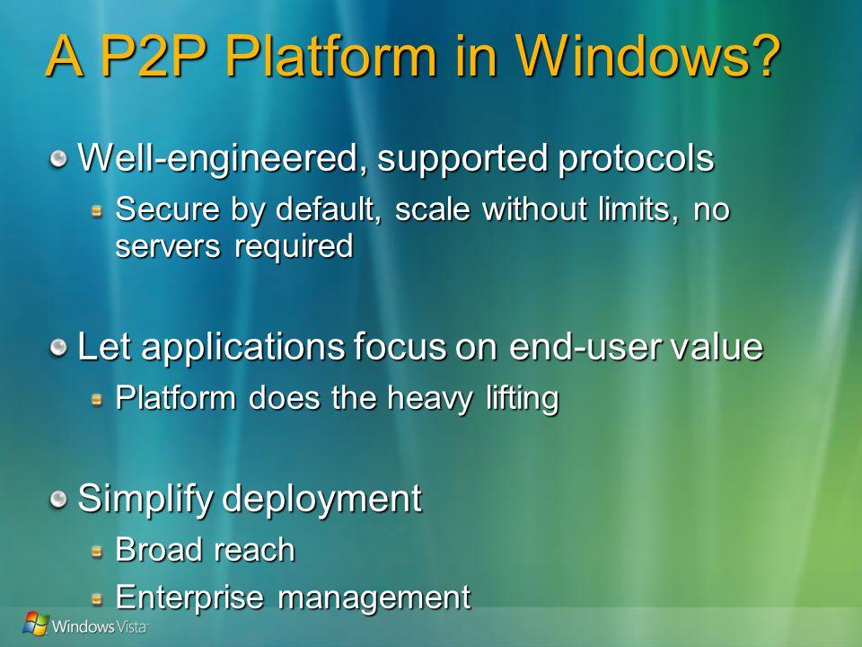 A P2P Platform in Windows.