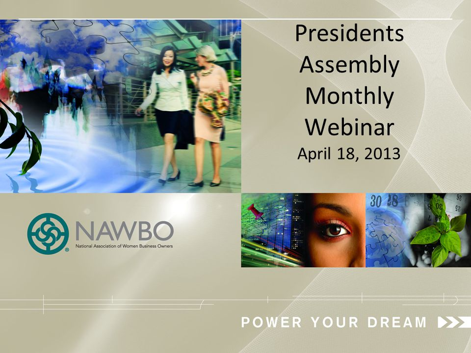 NAWBO Public Policy Primers 4 th Tuesday of the Month at Noon EST.