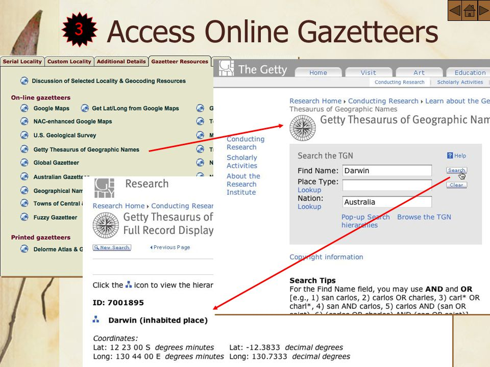 Access Online Gazetteers3