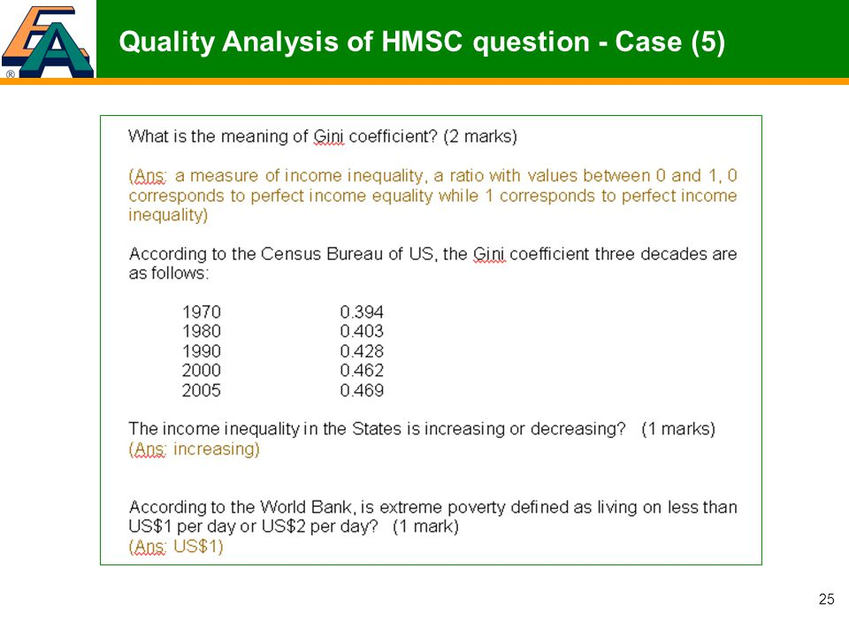 25 Quality Analysis of HMSC question - Case (5)