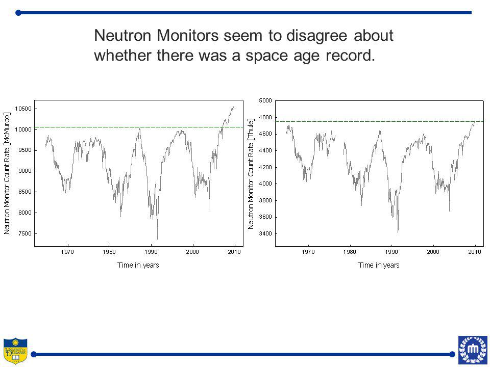 We created a reference data set by averaging 8 high-latitude neutron monitors.