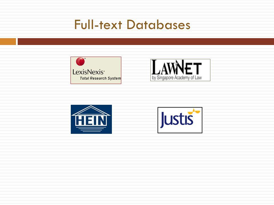 Full-text Databases