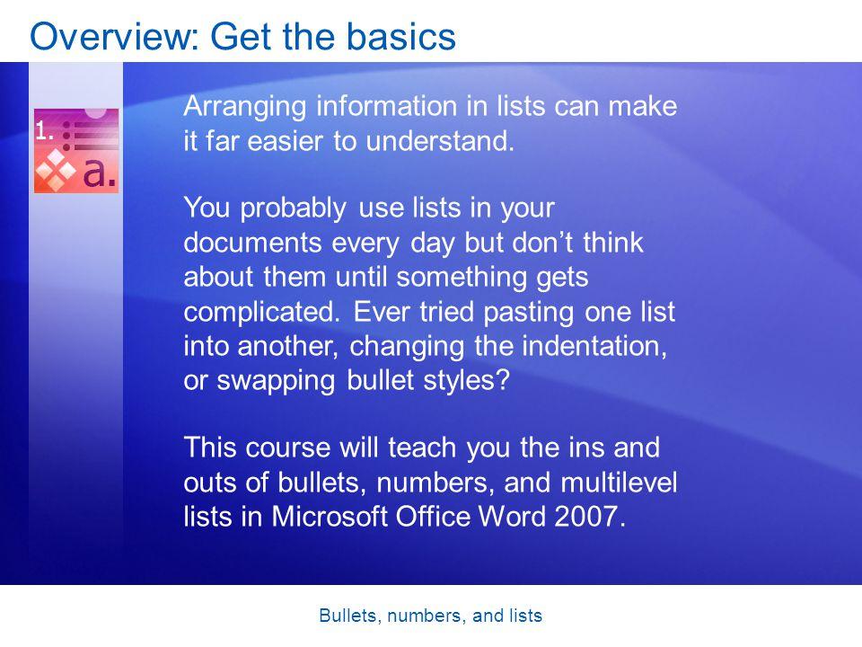 Lesson 2 Multilevel lists