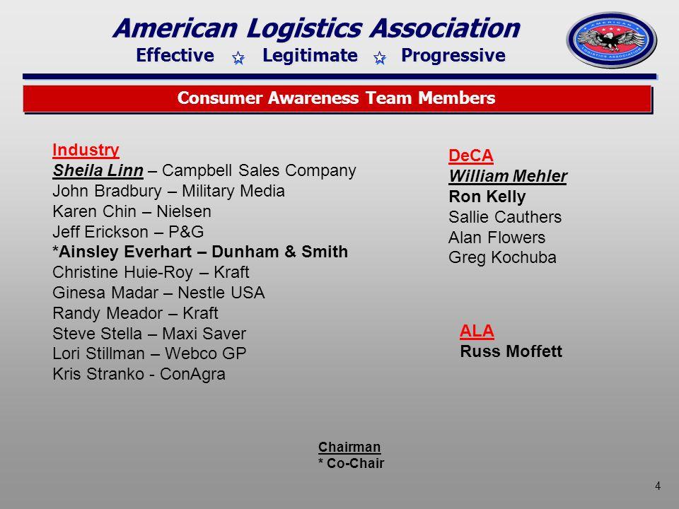 Effective Legitimate Progressive American Logistics Association 5 Consumer Awareness Industry 2008/2009 Contributors C.