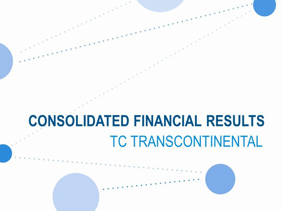< Revenues decreased by $23.2 M or 4.5%. Revenues Q3-2013 – TC Transcontinental