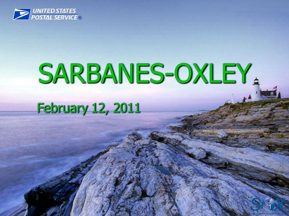 ® 1 SARBANES-OXLEYSARBANES-OXLEY February 12, 2011 February 12, 2011