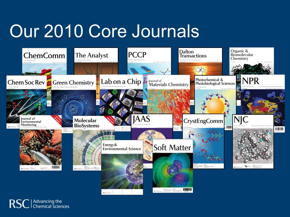 Our 2010 Core Journals