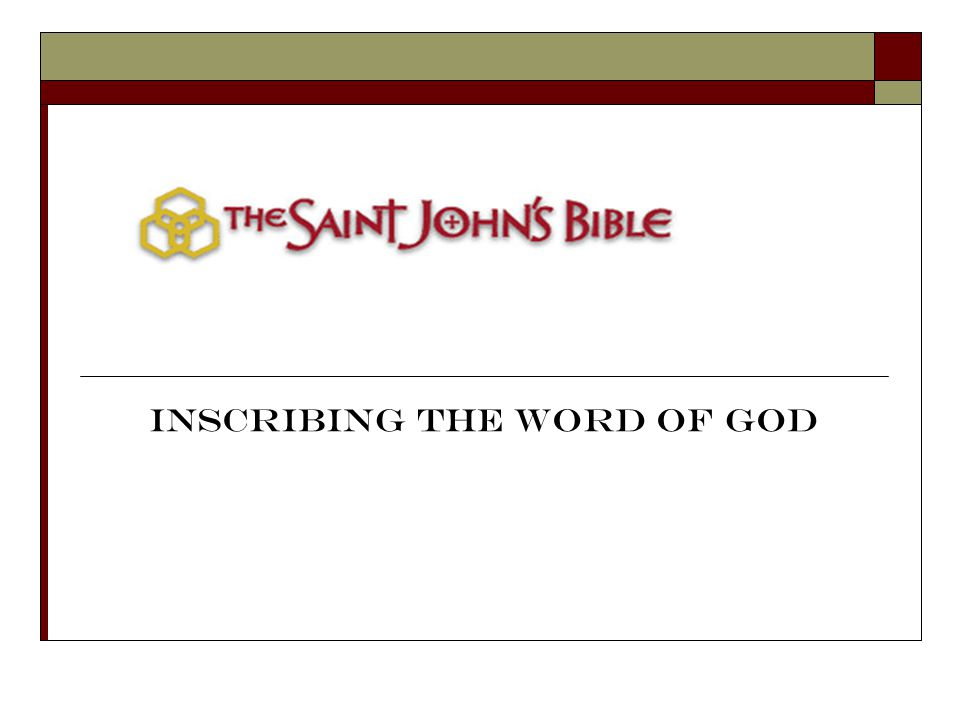 Inscribing the Word of God