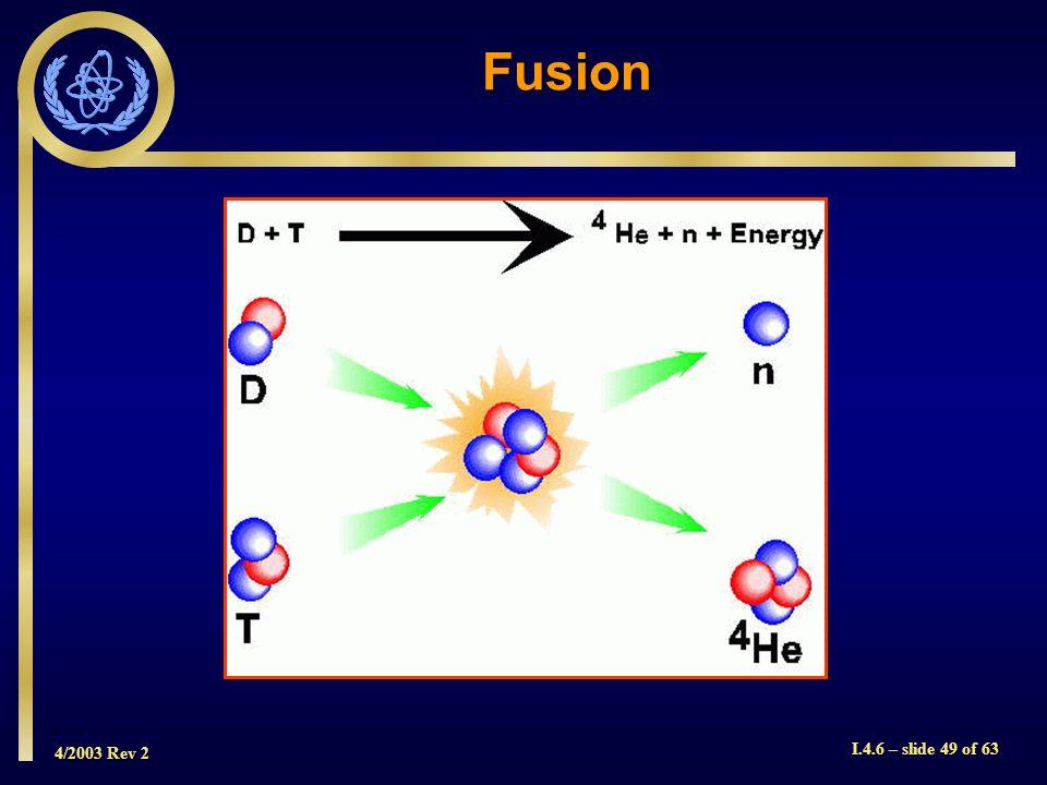 4/2003 Rev 2 I.4.6 – slide 49 of 63 Fusion