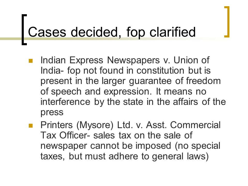 More cases Brij Bhushan v.State of Delhi – pre- censorship is invalidated.