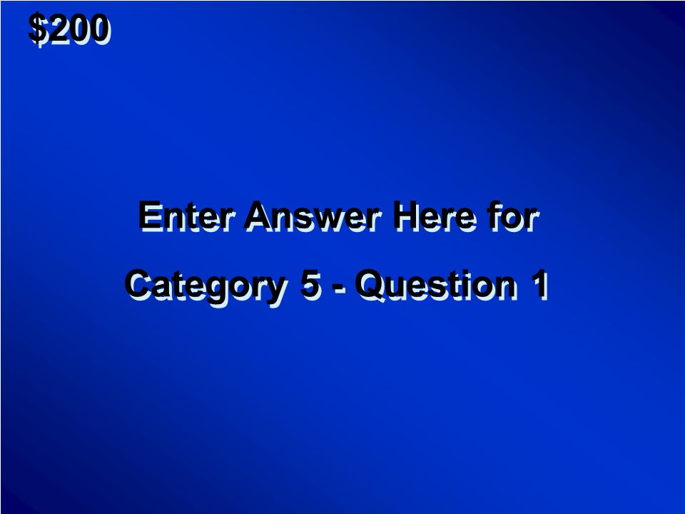 $1000 Enter Question Here for Category 4 - Question 5 Enter Question Here for Category 4 - Question 5 Scores