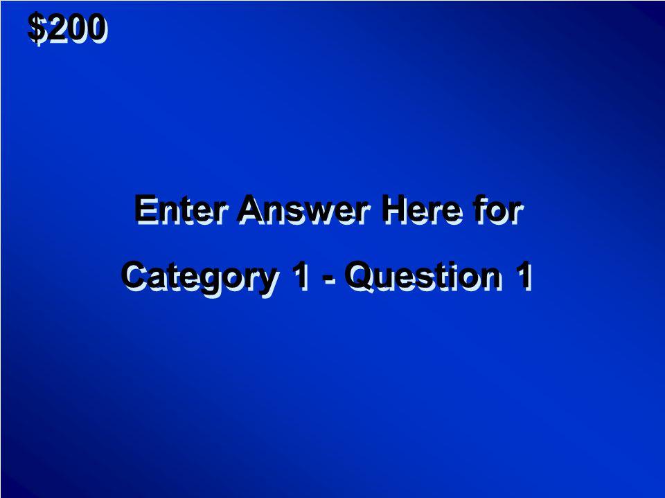 Subject 1 Subject 2 Subject 3 Subject 4 Subject 5 Subject 6 $200 $400 $600 $800 $1000 Round 1 Final Jeopardy Scores