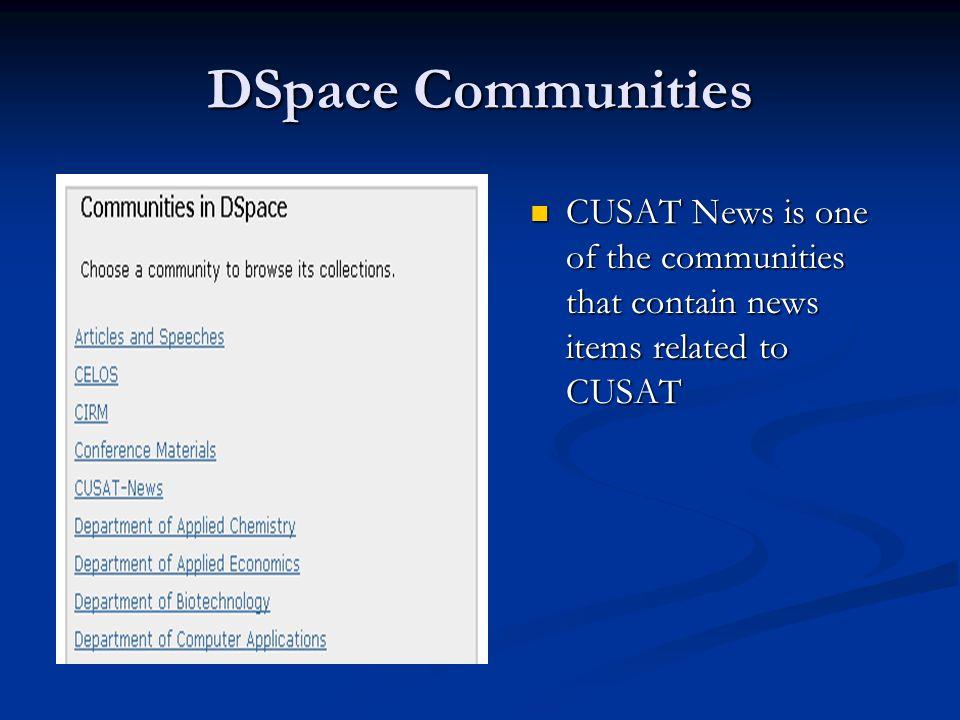 News @CUSAT Digital Library