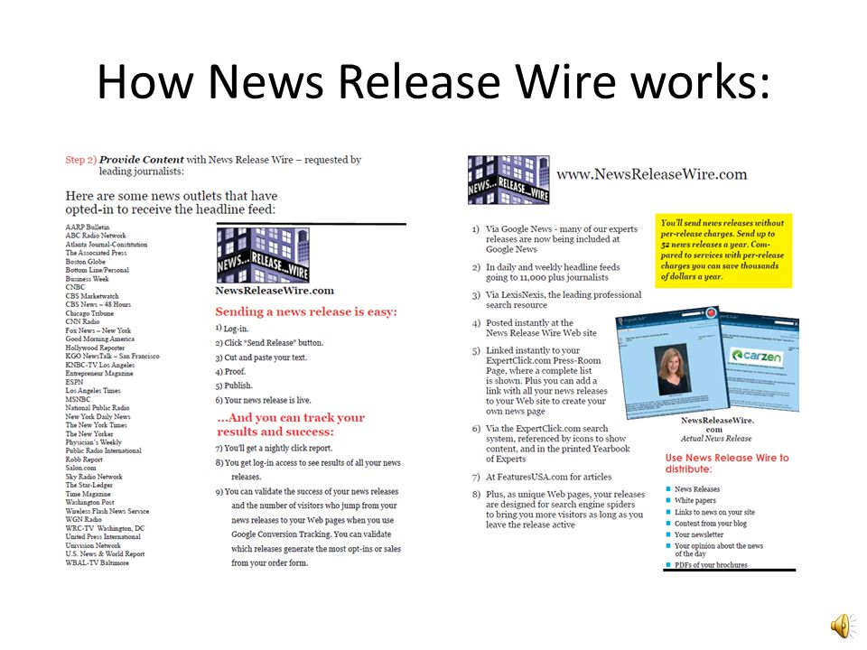 News Release Wire Pages:
