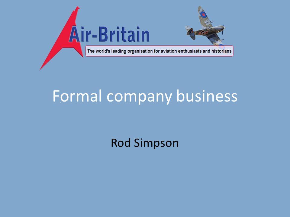 Formal company business Rod Simpson