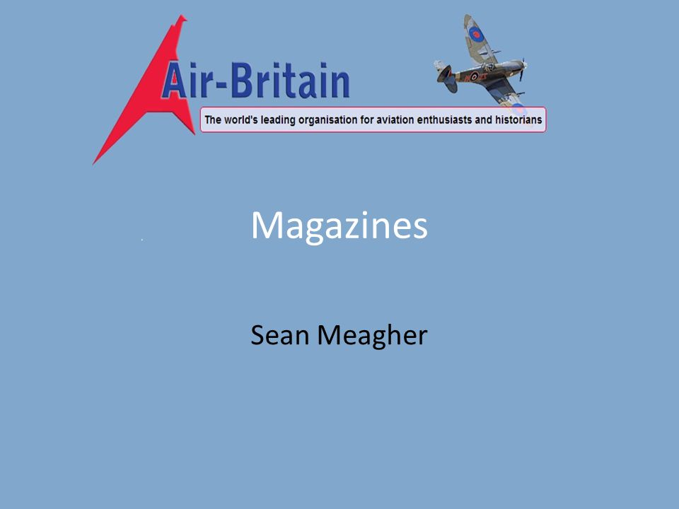 Magazines Sean Meagher