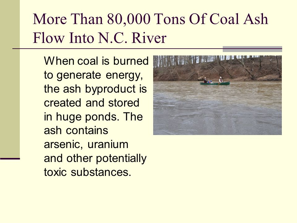More Than 80,000 Tons Of Coal Ash Flow Into N.C.