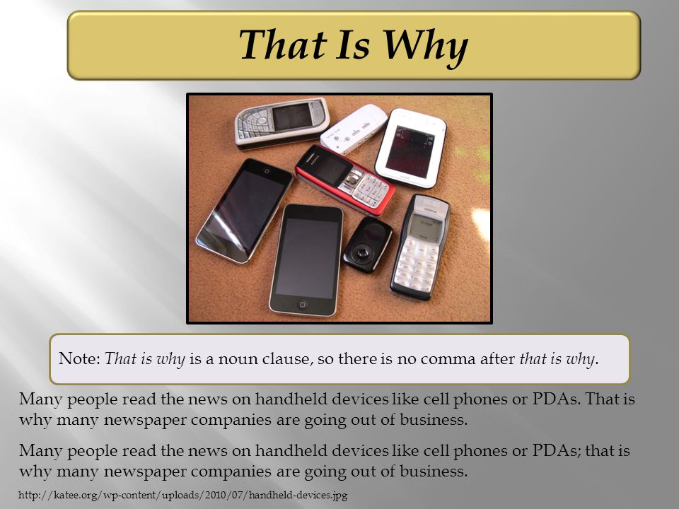 That Is Why Many people read the news on handheld devices like cell phones or PDAs.
