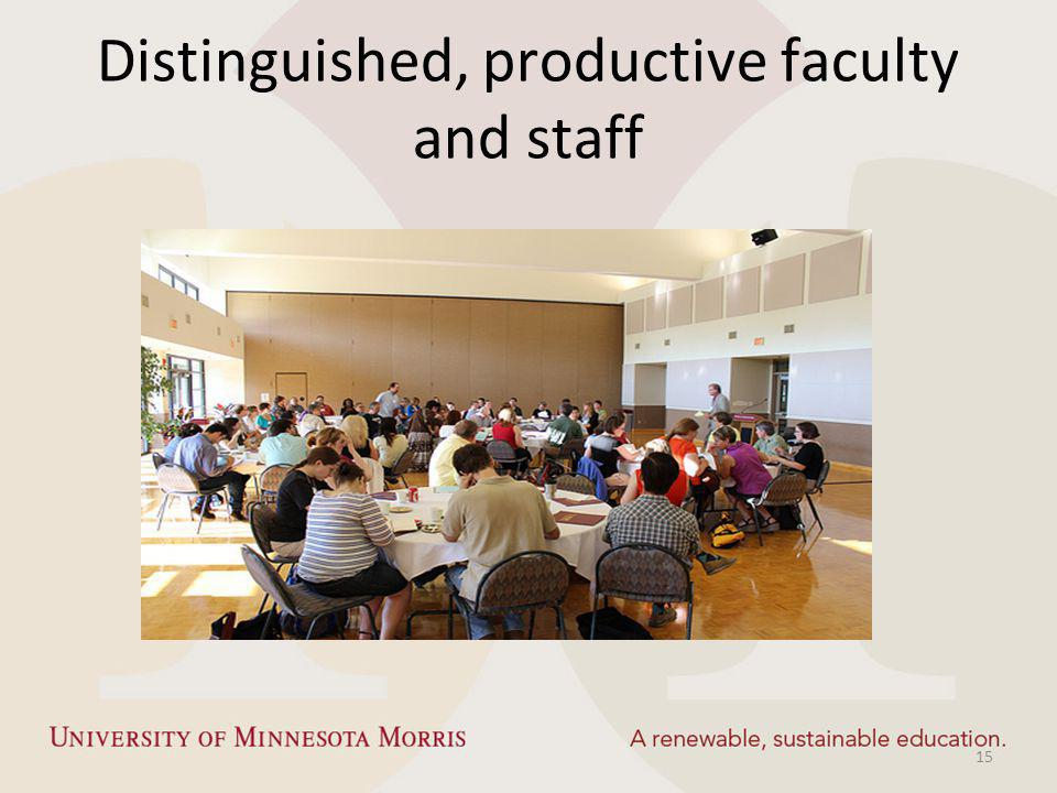 Distinguished, productive faculty and staff 15