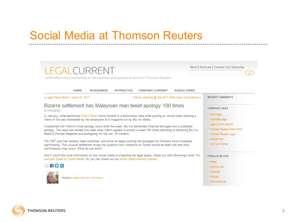 Social Media at Thomson Reuters 3