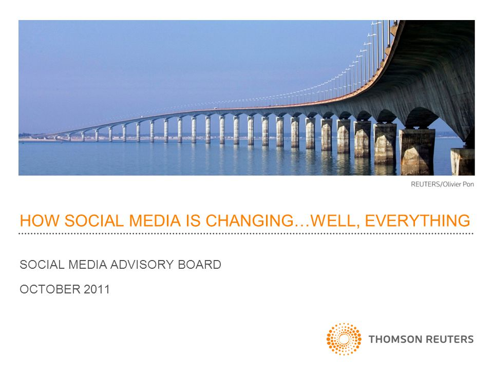 Social Media at Thomson Reuters Legal Opt Out Requests 27