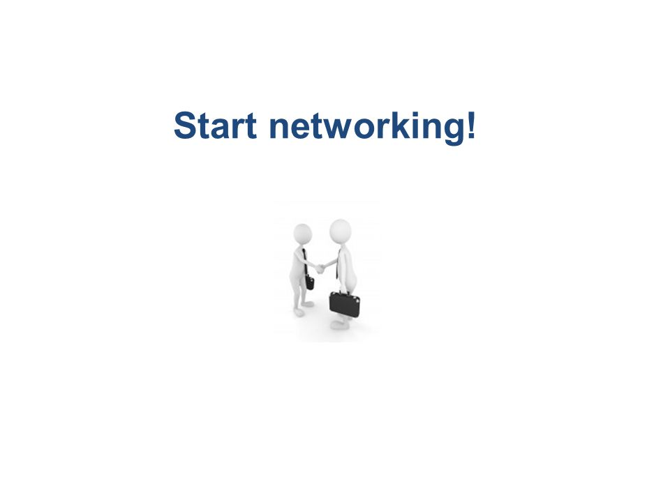 Start networking!