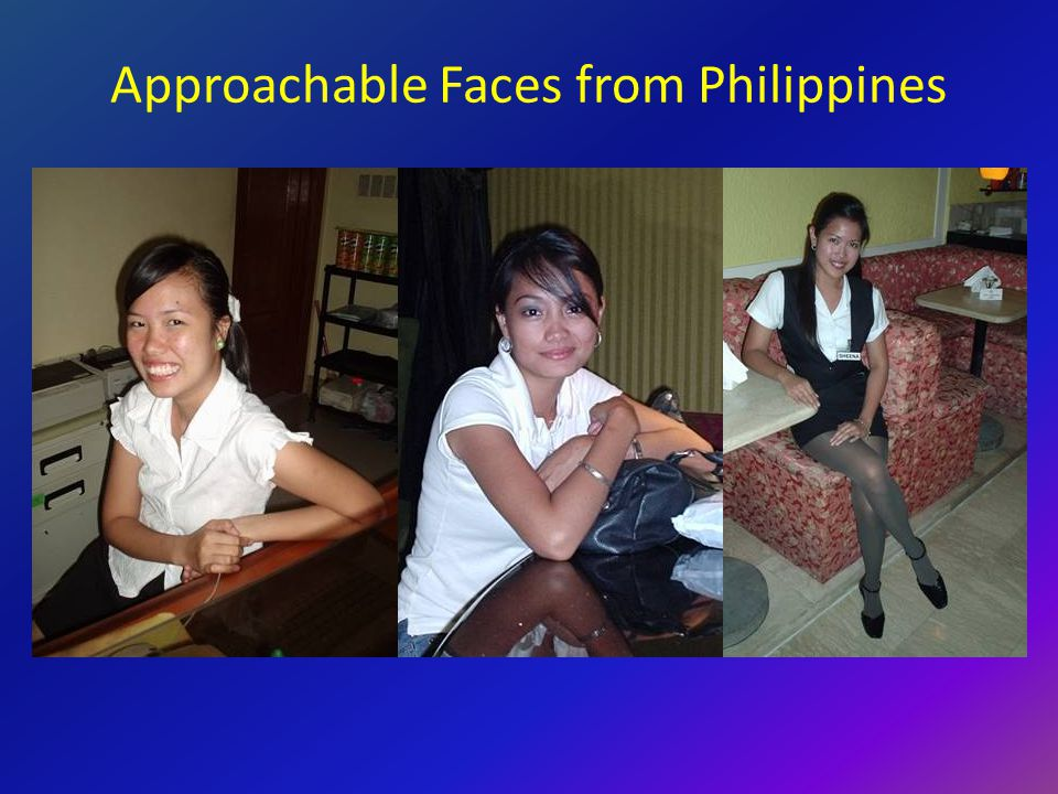 Approachable Faces from Philippines