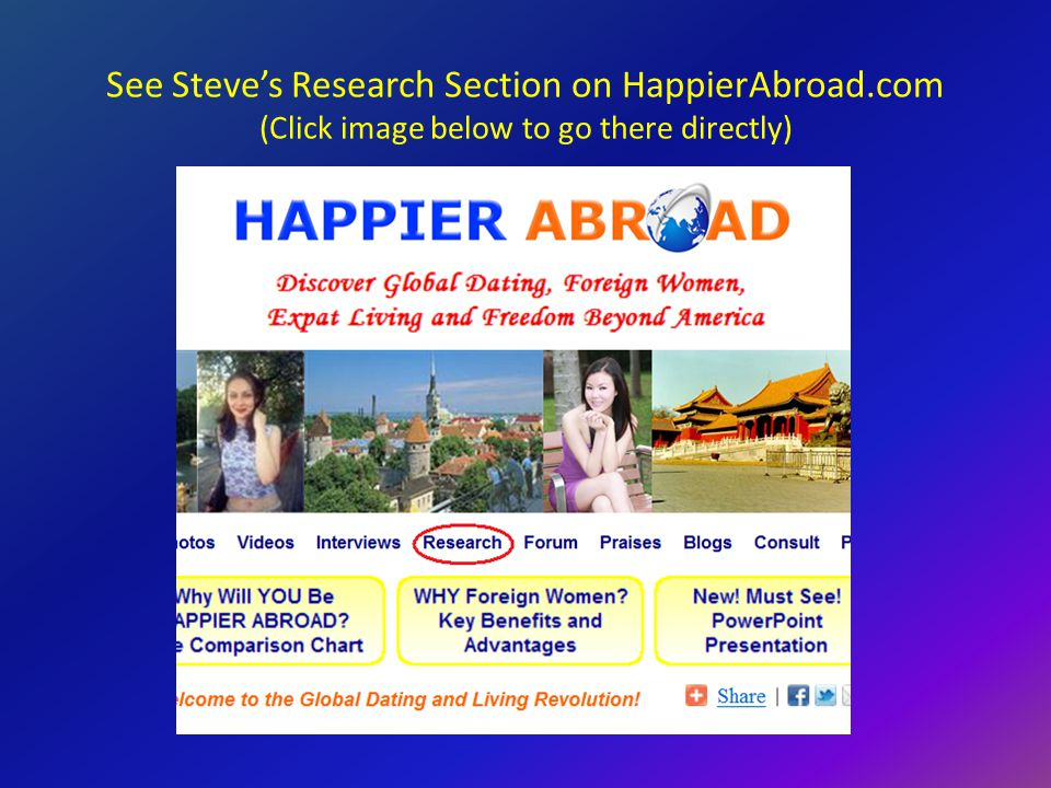 See Steves Research Section on HappierAbroad.com (Click image below to go there directly)