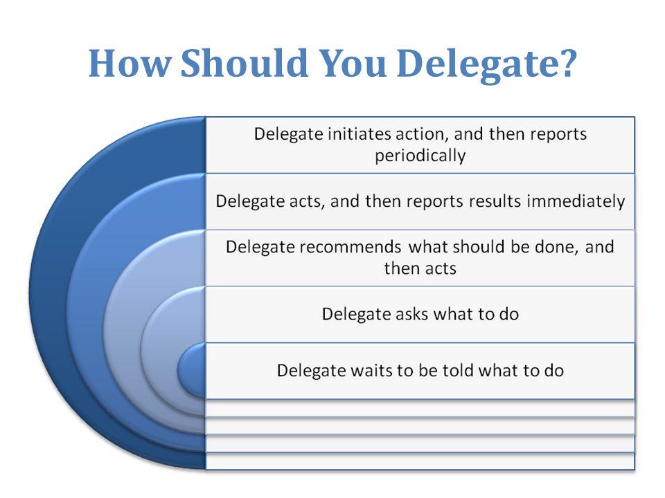 How Should You Delegate?