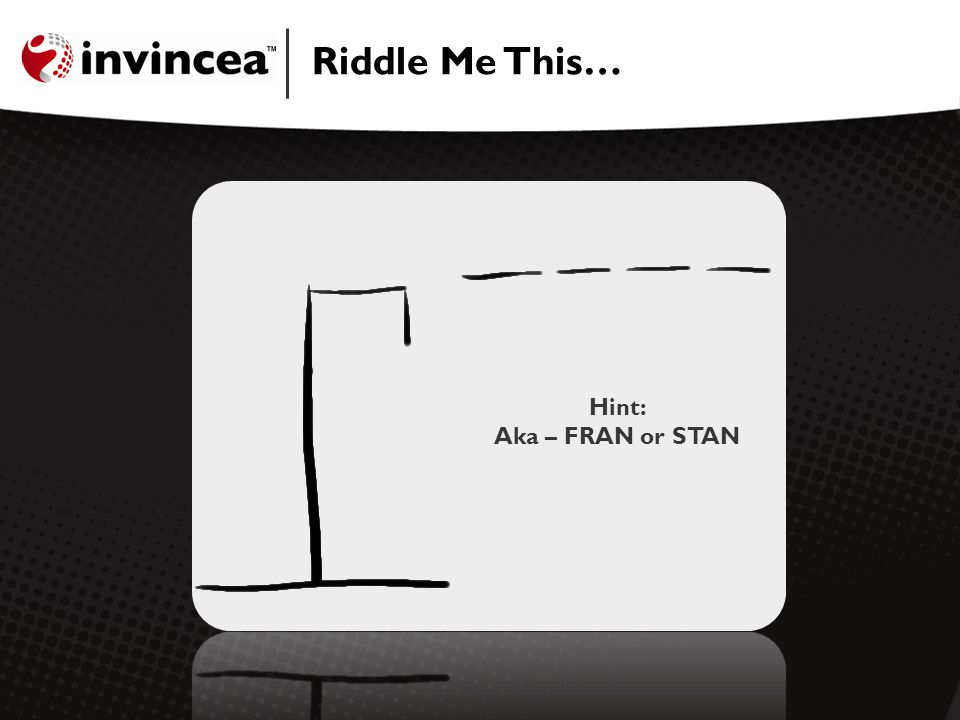Riddle Me This… Hint: Aka – FRAN or STAN