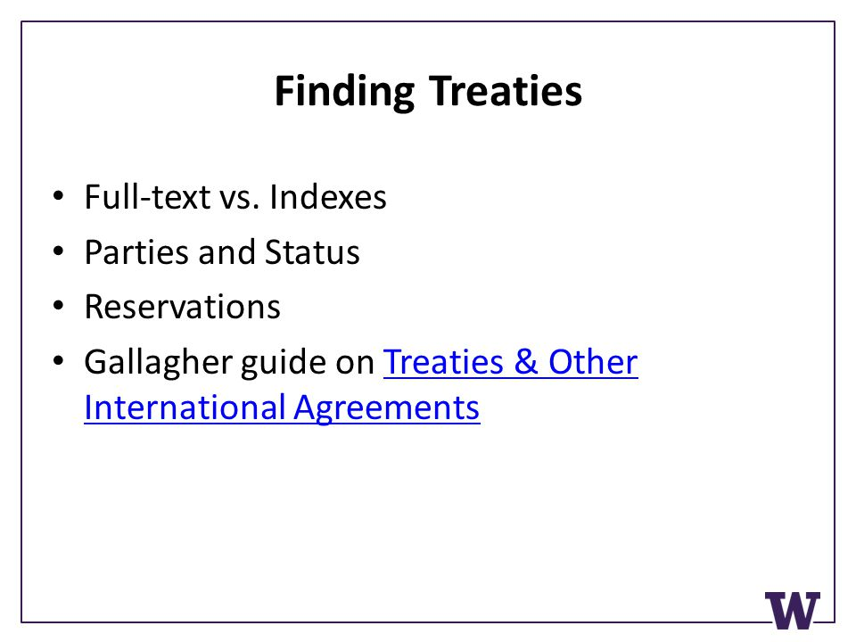 Finding Treaties Full-text vs.