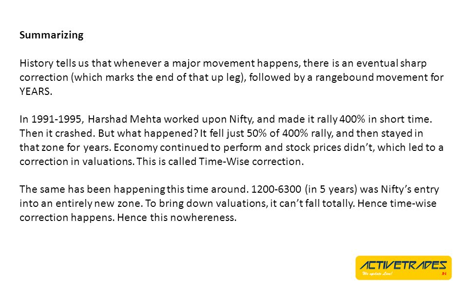 Summarizing There was a long period of nothingness in the market which seems to be over now.