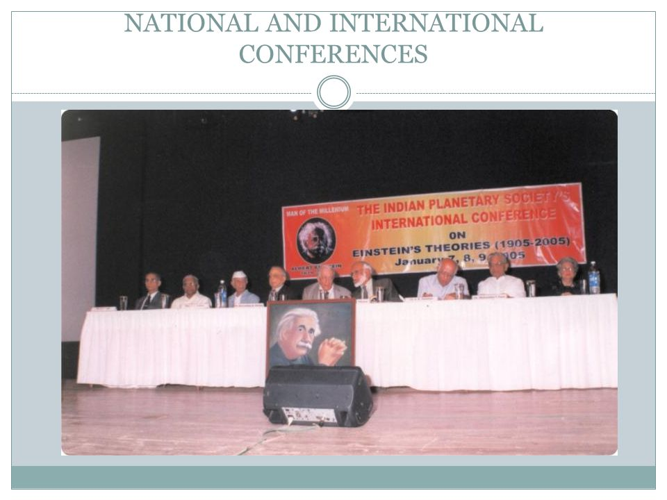 NATIONAL AND INTERNATIONAL CONFERENCES