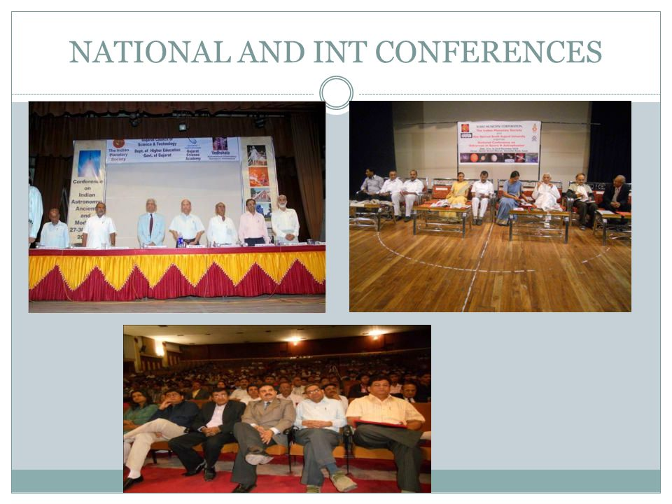 NATIONAL AND INT CONFERENCES