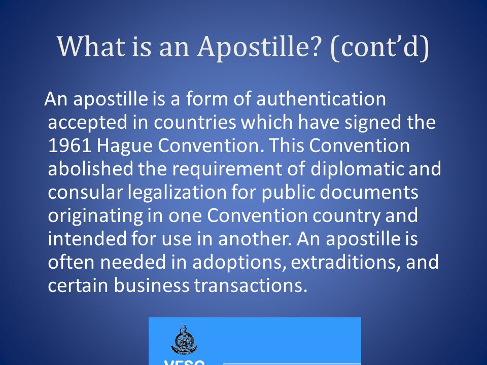 What is an Apostille.