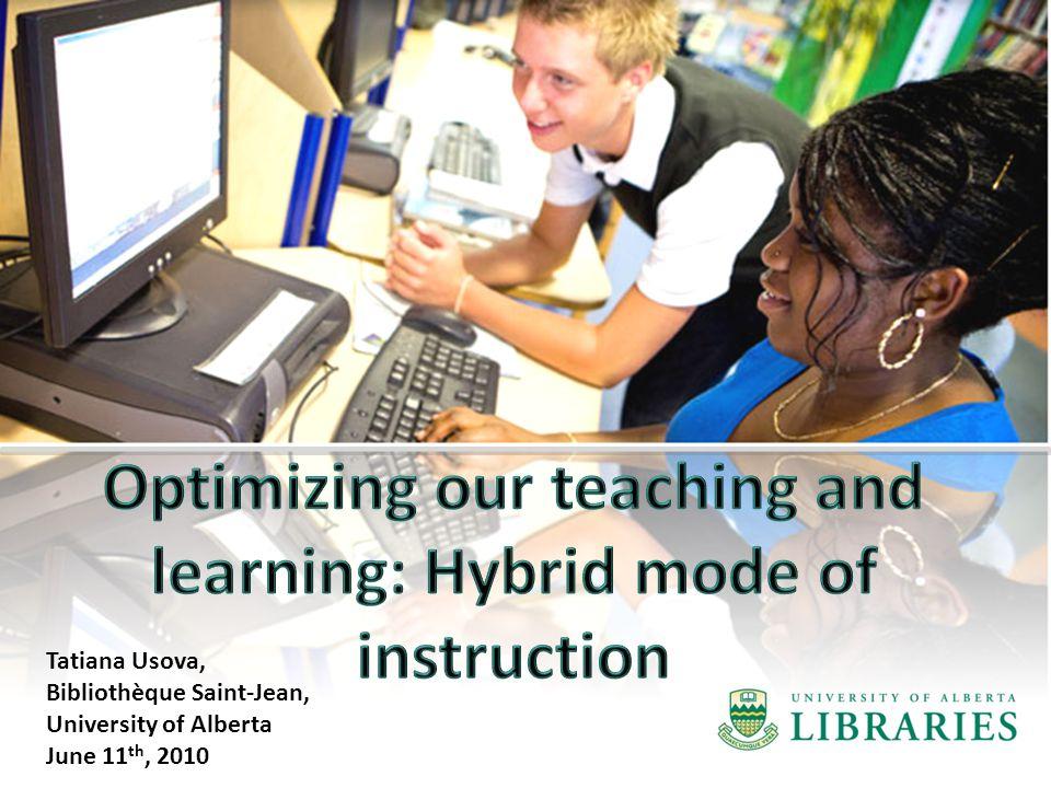 Tatiana Usova, Bibliothèque Saint-Jean, University of Alberta June 11 th, 2010