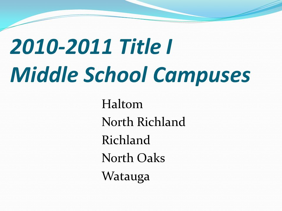 2010-11 Title I Elementary Campuses BirdvilleDavid E.