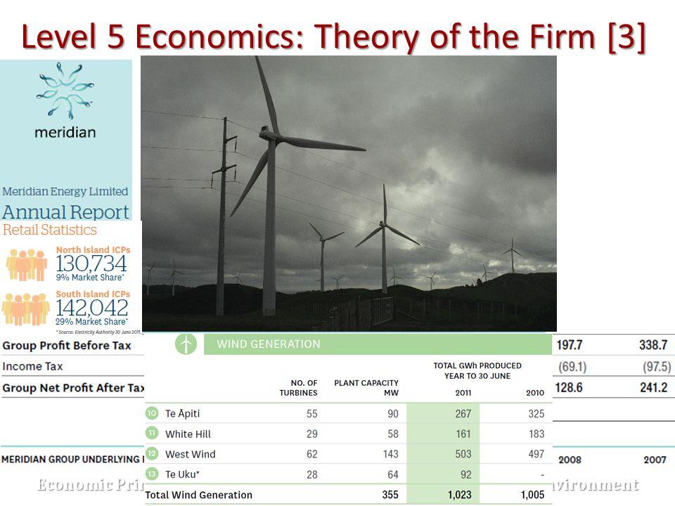 Level 5 Economics: Theory of the Firm [3] Economic Principles Economic Principles Economic Environment Economic Environment Imperfect Competition Impe