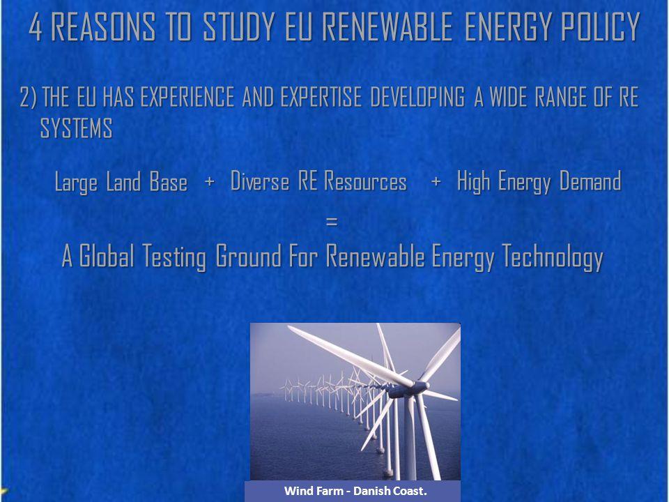 Solar Farm - Valencia, Spain Tidal Turbine - Scottish CoastGeothermal Plant - Larderello, ItalyBiomass Heating Plant - Vienna, Aus.